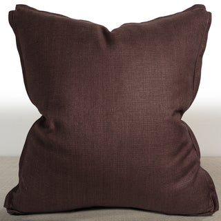 Dorian Espresso Suede 26-inch Down and Feather Filed Luxury Throw Pillow