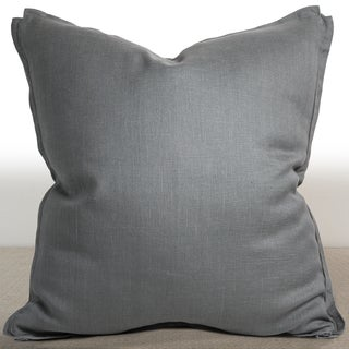 Chauran Dorian Mist Grey Linen 26-inch Down and Feather Filled Luxury Pillow