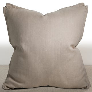 Chauran Dorian Sand Linen Feather and Down Filled 26-inch Luxury Square Pillow