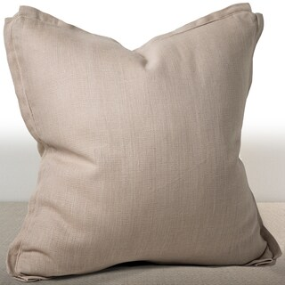 Dorian Sand Linen 20-inch Feather and Down Filled Luxury Square Pillow