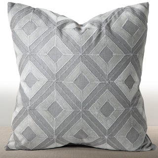 Cordova Mist Linen/ Suede Down and Feather Filled 18-inch Pillow