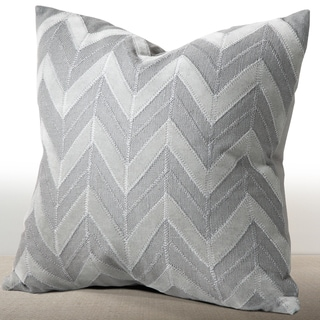 Cordova Mist Linen/Suede Down and Feather Filled 16-inch Throw Pillow
