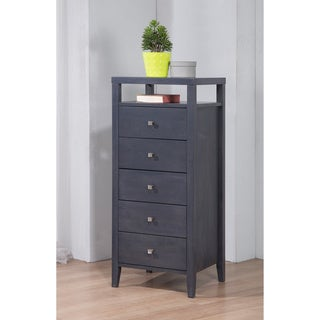 Aristo Burnt Grey 5 Drawer Lingerie Chest