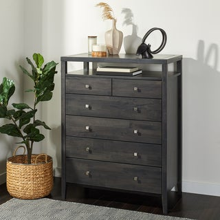 Marley Light Charcoal Grey 4 Drawer Chest Overstock