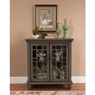Treasure Trove Accents Joplin Texture Grey Two Door Cabinet