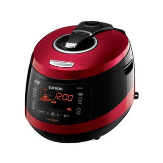 Cuckoo CRP-HW1087F 10-Cup Pressure Rice Cooker, 110V, Vivid Wine