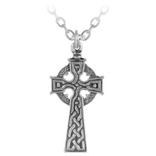 English Pewter Celtic Cross Pendant