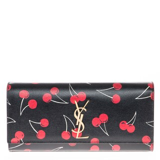 Saint Laurent Monogram Cherry-Print Clutch