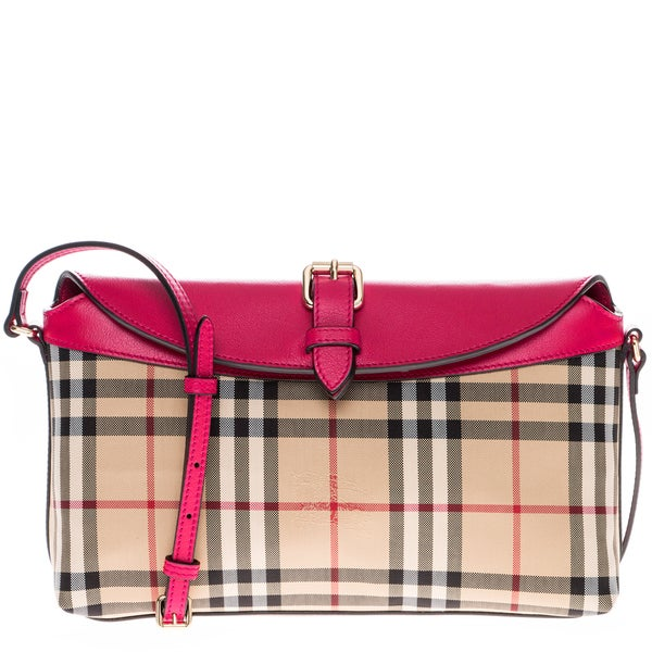Burberry Horseferry Check Small Leah Clutch Bag