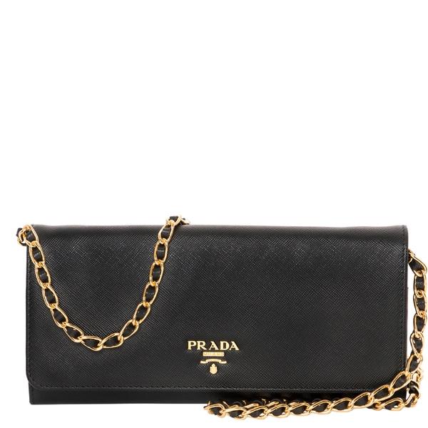 cheap prada purse - Prada Saffiano Metal Oro Chain Wallet - 17452727 - Overstock.com ...
