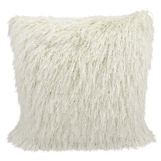 Mina Victory by Nourison Cream Shag 20-inch Throw Pillow