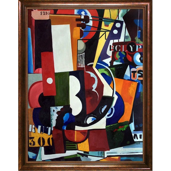 Amadeo Cardoso 'Brut (300 TSF) 2' Hand Painted Framed Canvas Art