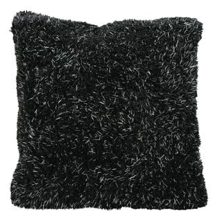 Mina Victory by Nourison Black Shag 22-inch Throw Pillow