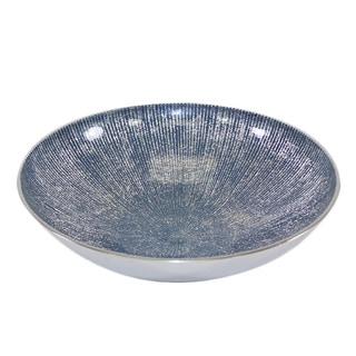 Pampa Bay 9.5-inch Blue Serenity Round Bowl