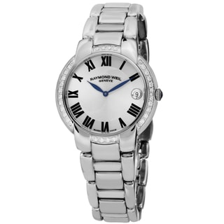 Raymond Weil Women's 5235-STS-01659 'Jasmine' Silver Dial Stainless Steel Diamond Swiss Quartz Watch