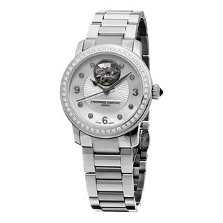 Frederique Constant Women's FC-310HBAD2PD6B 'Ladies Automatic' Mother of Pearl Diamond Dial Stainless Steel Automatic Watch
