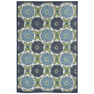 Embellished Circles Outdoor Rug (5' x 7'6)