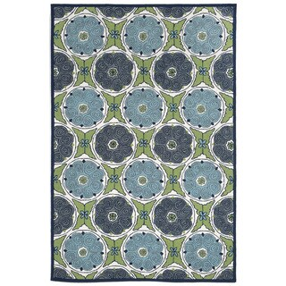 Embellished Circles Outdoor Rug (7'6 x 9'6)