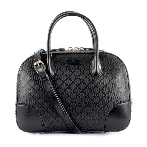 Gucci Diamante Leather Top Handle Handbag