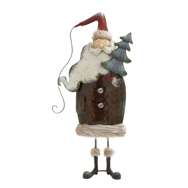 27 inches high Metal Santa