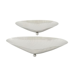 Stainless Steel Shell Dishes (Set of 2)