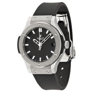 Hublot Women's 581.NX.1170.RX 'Classic Fusion' Black Rubber Watch