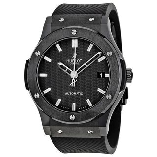 Hublot Men's 511.CM.1770.RX 'Classic Fusion' Automatic Black Rubber Watch
