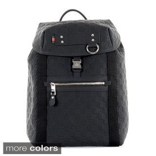 Gucci Guccissima Rubberized Leather Backpack