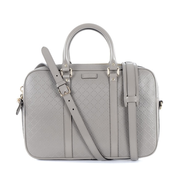 Gucci Grey Leather Briefcase