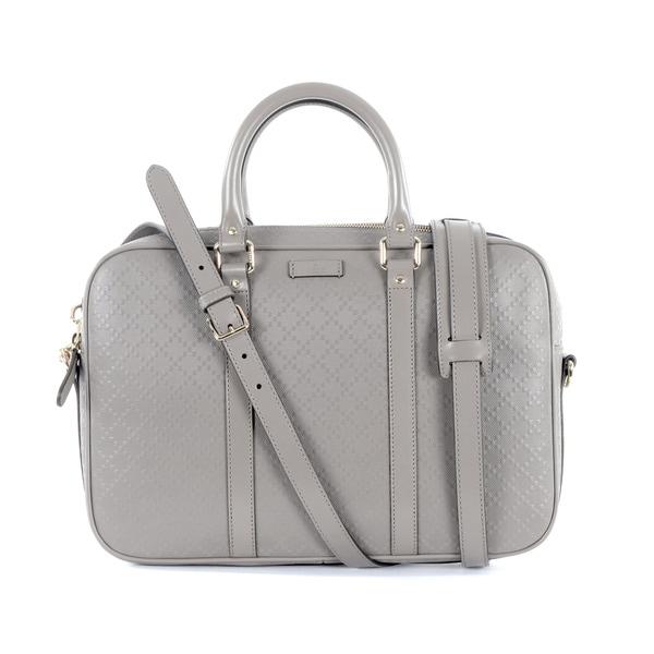 Gucci Grey Leather Briefcase