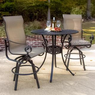 Lakeview Outdoor Designs La Salle 2-person Sling Patio Bar Set