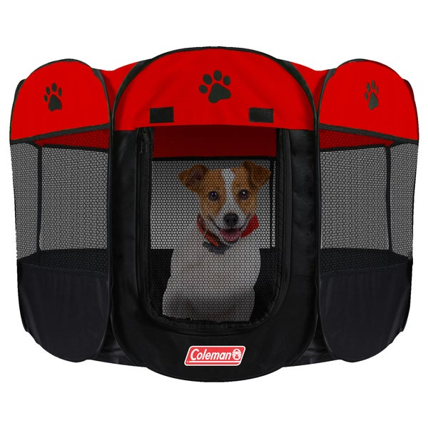 Coleman Red Water-resistant Pet Playpen