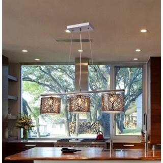 Avery 3-light Chrome 28-inch Crystal Pendant Lamp