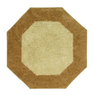 Frisse Two-tone Octagon Shag Accent Rug (6'x6')