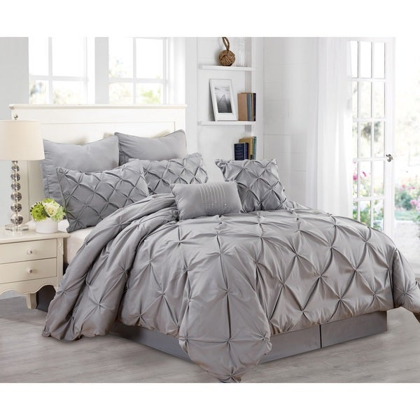 Fashion Street Athena 8-piece Comforter Set Queen- Blue only (As Is Item)