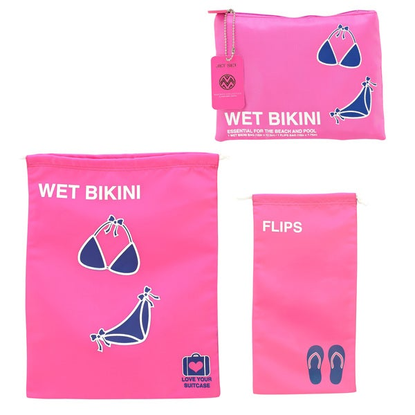 The Macbeth Collection Wet Bikini 2-piece Travel Bag Set