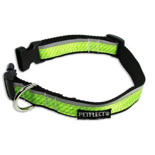 Petflect Green On Green Reflective Dog Collar