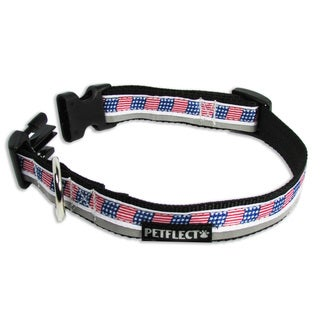 Petflect Stars and Stripes Reflective Dog Collar
