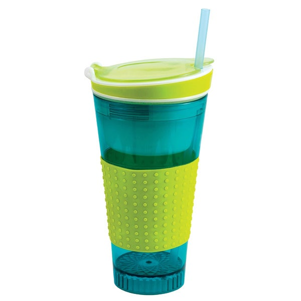 Two Elephants Snackeezer All-In-One Snack and Drink Cup 15804966