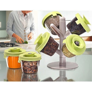 Two Elephants Convenient Pop-Up Spice Rack with Containers