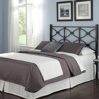 Fashion Bed Group Marlo Black Steel Headboard Panel with Squared Finial Posts