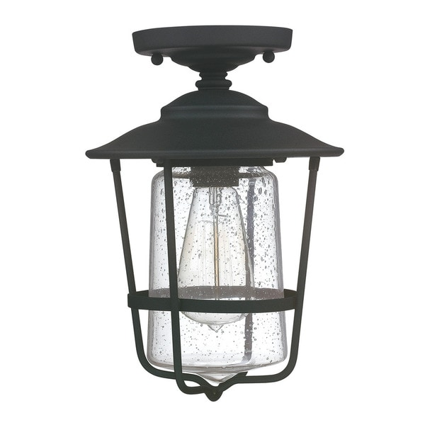 capital lighting creekside collection 1 light black