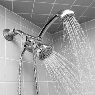 Home Basics Dual Shower Head and Massager Set