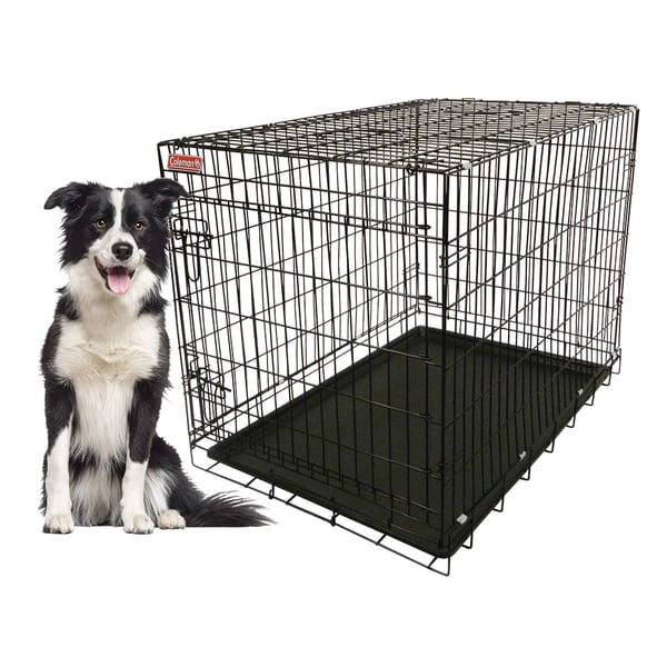 Coleman 36-inch Large Heavy-guage Foldable Wire Pet Kennel