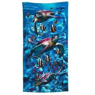 Turtle Town Printed Beach Towel (Set of 2)