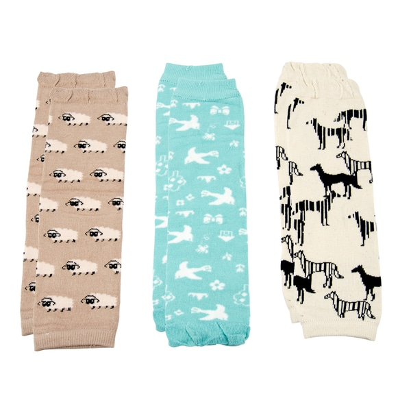 Crummy Bunny Animals Leg Warmers Animals (Set of 3)