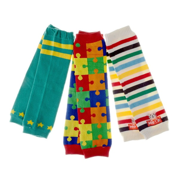 Crummy Bunny Baby Fun Puzzle Leg Warmers (Set of 3)