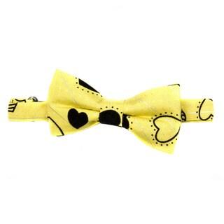 Crummy Bunny Boys' Adjustable Pre-tied Yellow Heart Bow Tie