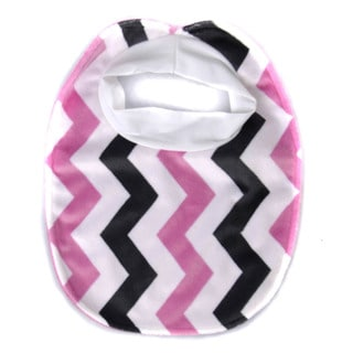 Crummy Bunny Girls' Fuzzy Chevron and Solid Color Bib Set