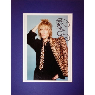 Framed 8x10 Photograph - Autographed by Rod Stewart